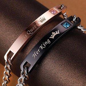 Jewelry - His Queen & Her Queen Couple Bracelet